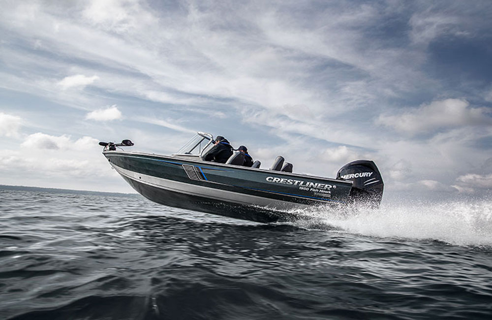 Ready to chase those freshwater finned critters? You will be, with a boat like this.