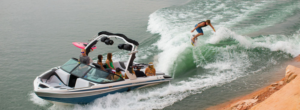 Hang 10 or hang on—either way, getting out of the boat and into the water ensures thrills and spills.