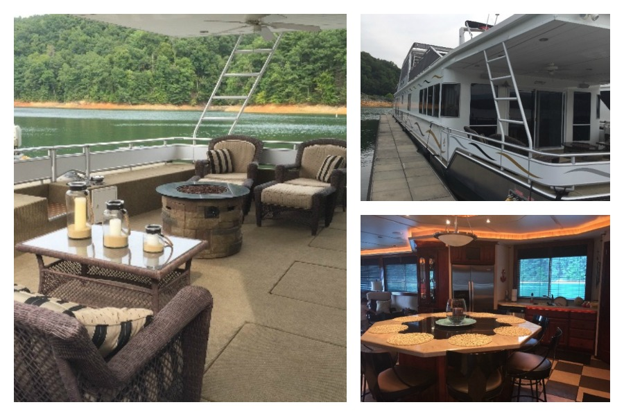 This 2008 Fantasy Houseboat is 105' in length, and also includes four bedrooms and two master suites. View the full listing on Boat Trader.