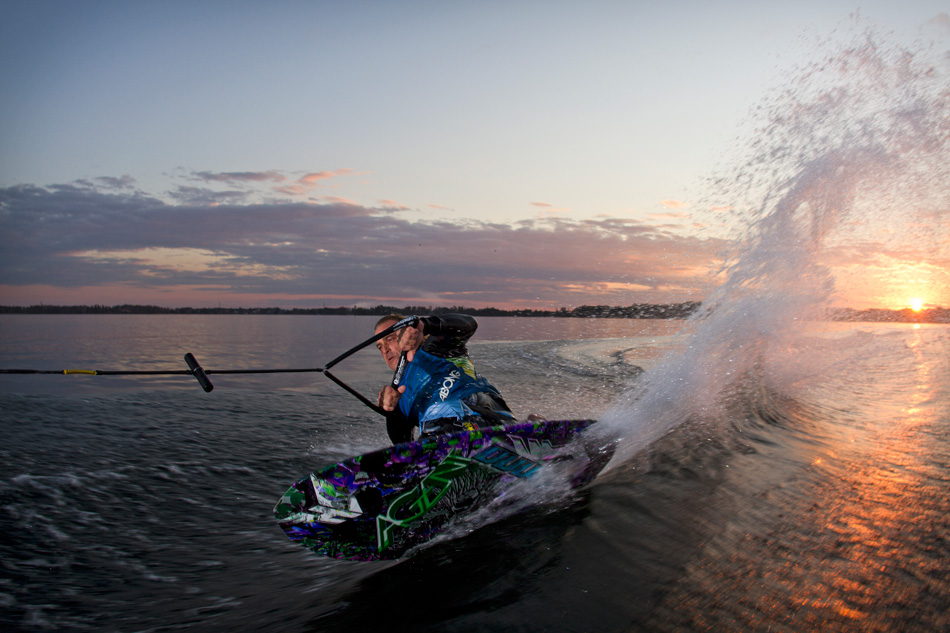 insert caption Competitive kneeboards are built to be more compact in order to allow advanced riders to perform tricks and sharp turns. Photo credit: Centurion Boats.