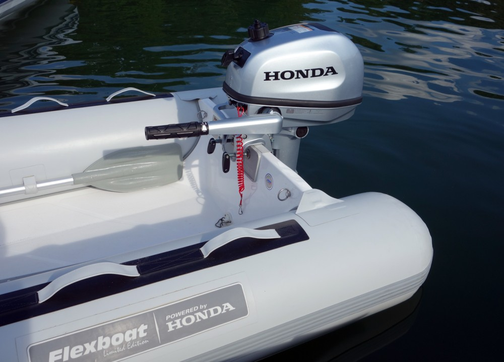 The styling of the new Honda portable outboards is crisp and modern.