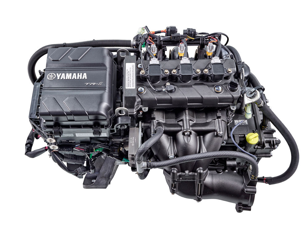 Compact and light-weight Yamaha TR-1 engines fit with room to spare and deliver improved mid-range power.