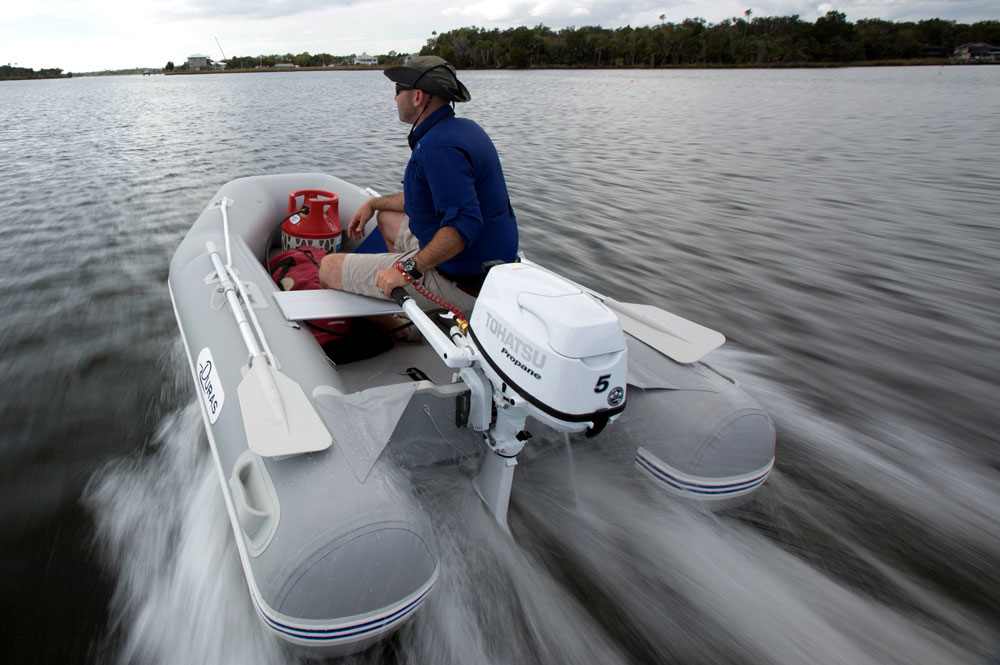We started the engine in a test-tank but have yet to run it for ourselves on a boat since it was displayed on land at the show, but it's very spiffy in its white paint job and looks and feels like a quality product.