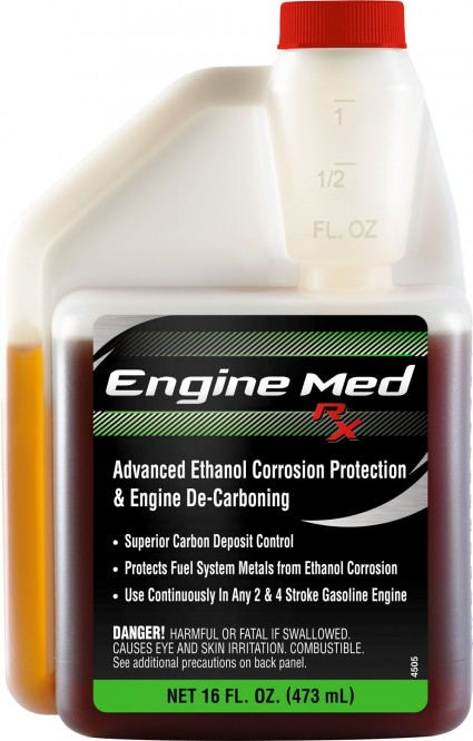 The corrosion inhibitors in Engine Med RX also fight the negative effects of sulfate salts found in ethanol-enhanced gasoline and ocean water salt, which corrode the metals in the fuel system.
