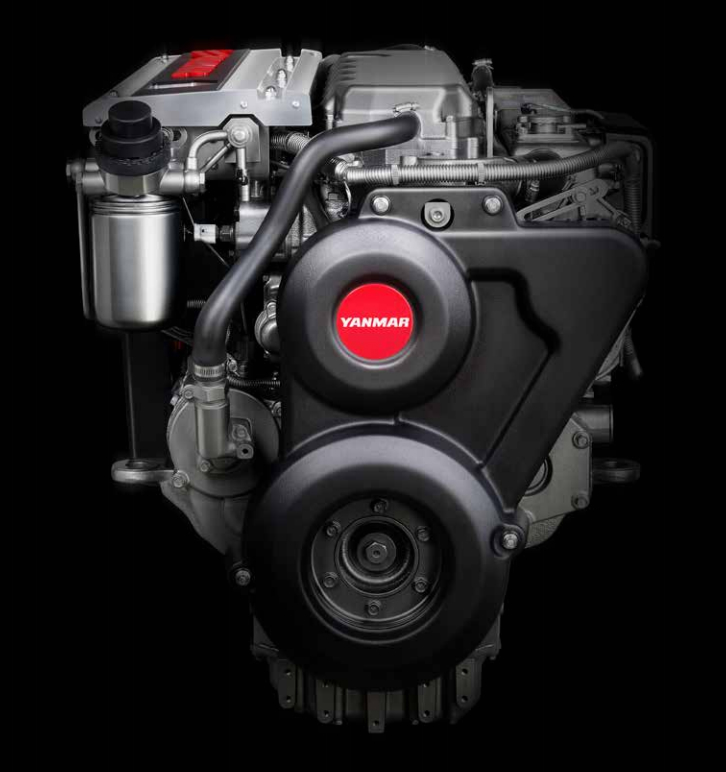 The Yanmar 6LY 400/440 is a modern turbocharged marine diesel in the company's Powerboat Engines series. Photo courtesy of Yanmar.