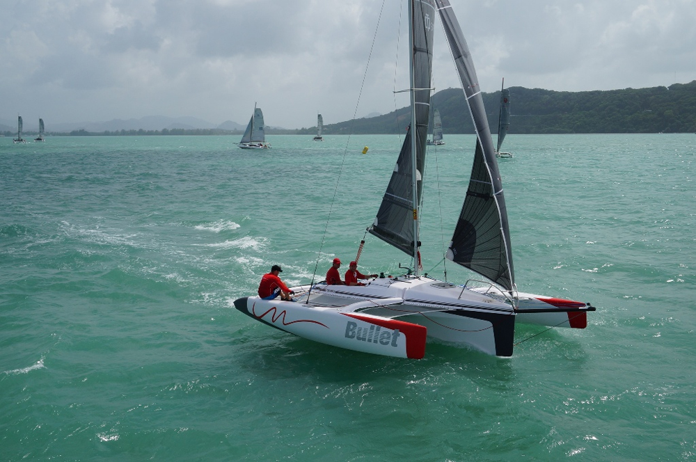 For something completely different, how about a multihull daysailer with ripping speeds up to 20 knots? Meet the Corsair Sprint 750 Mark II trimaran, a slippery 24-footer that weighs just 1,800 pounds and folds so it can be trailered (or stored) anywhere.