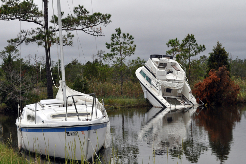 A hurricane can take boats to places they were never meant to be; Sea Tow can help you get them back. Photo courtesy of FEMA.