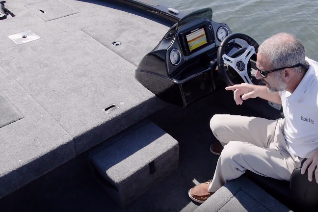 How many 17-foot aluminum fishing boats have flush-mounted electronics at the helm? Not many.