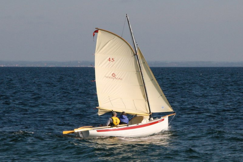 The NorseBoat is one of a kind, and can be both sailed or rowed.