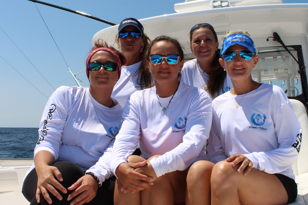 Back left to right, Chris Tina Olivieri-Dupuis, Shannon Ehinger; lower left to right, Jamie Buffington, Lisa Foxwell, and Nikki George.