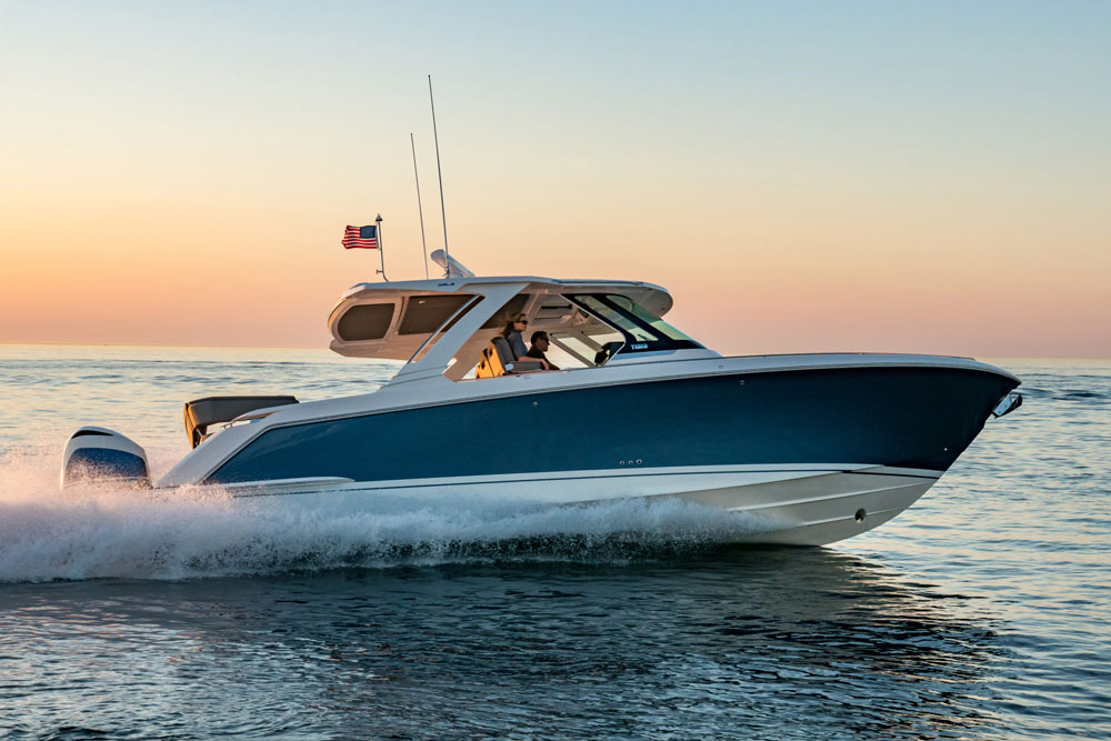 Outboards on a Tiara? You bet—like we said, this boat is unlike any Tiara you've seen before.
