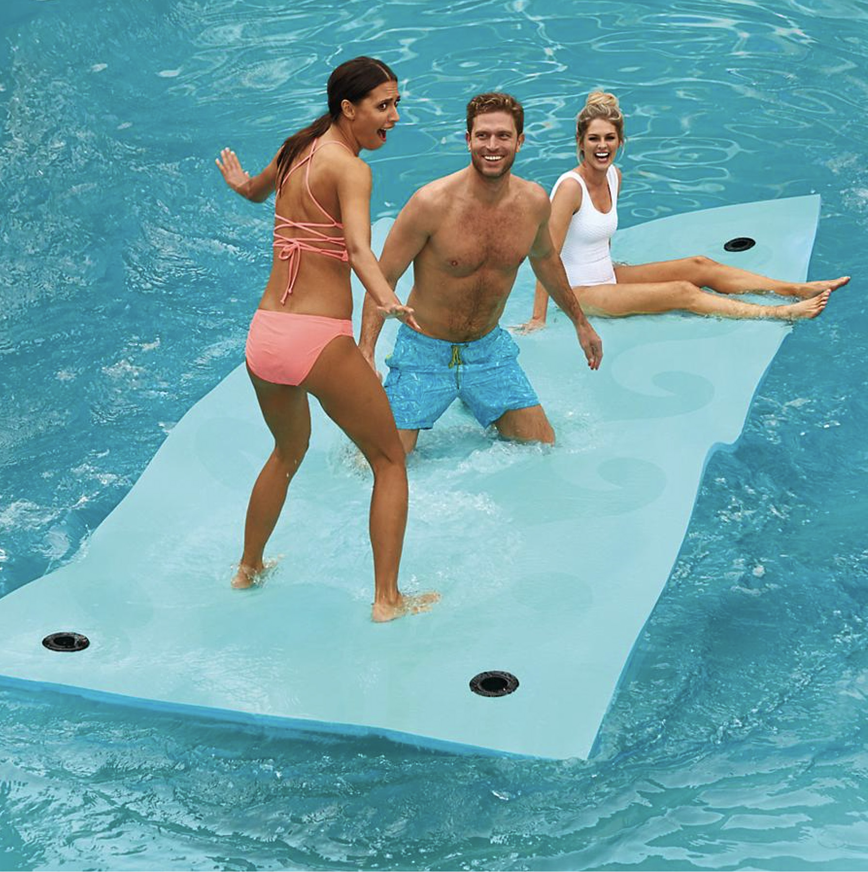 Aqua Beach Wave Floating Party Mat