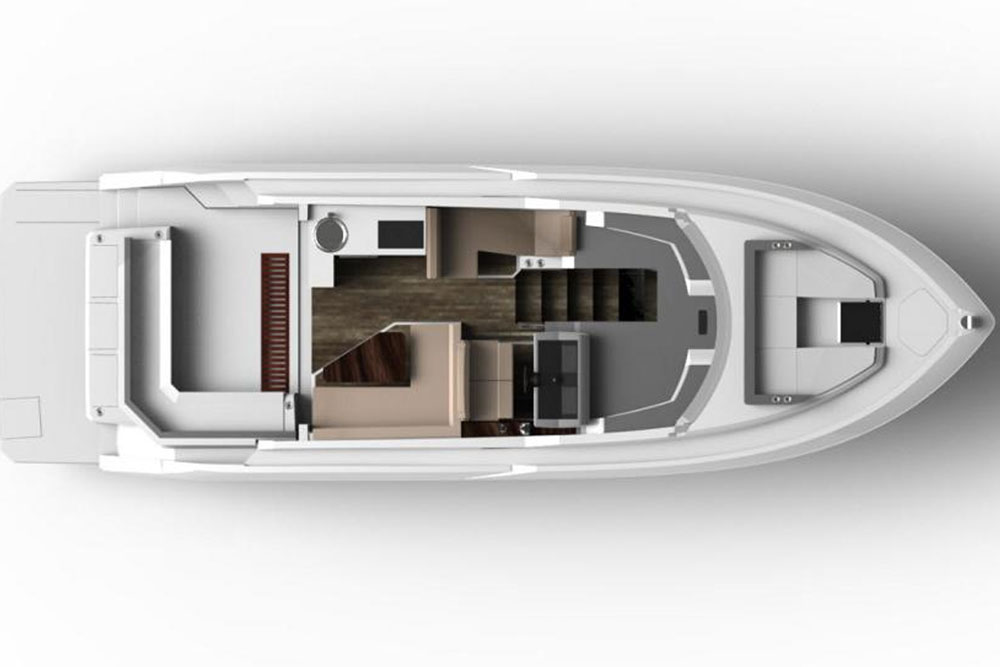 The Cruisers Cantius 42 certainly shares many traits with its Cantius brethren, but the layout has some features that are quite unique, too.