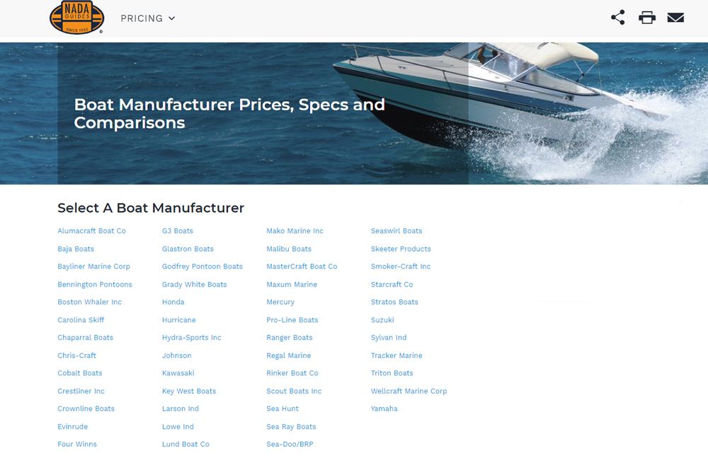 Boat Prices and Boat Values