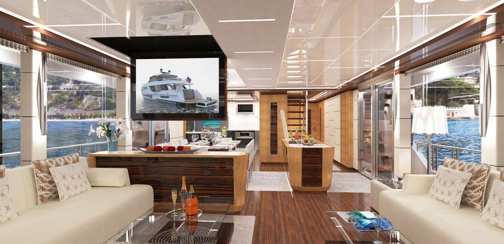 ocean alexander 90R interior