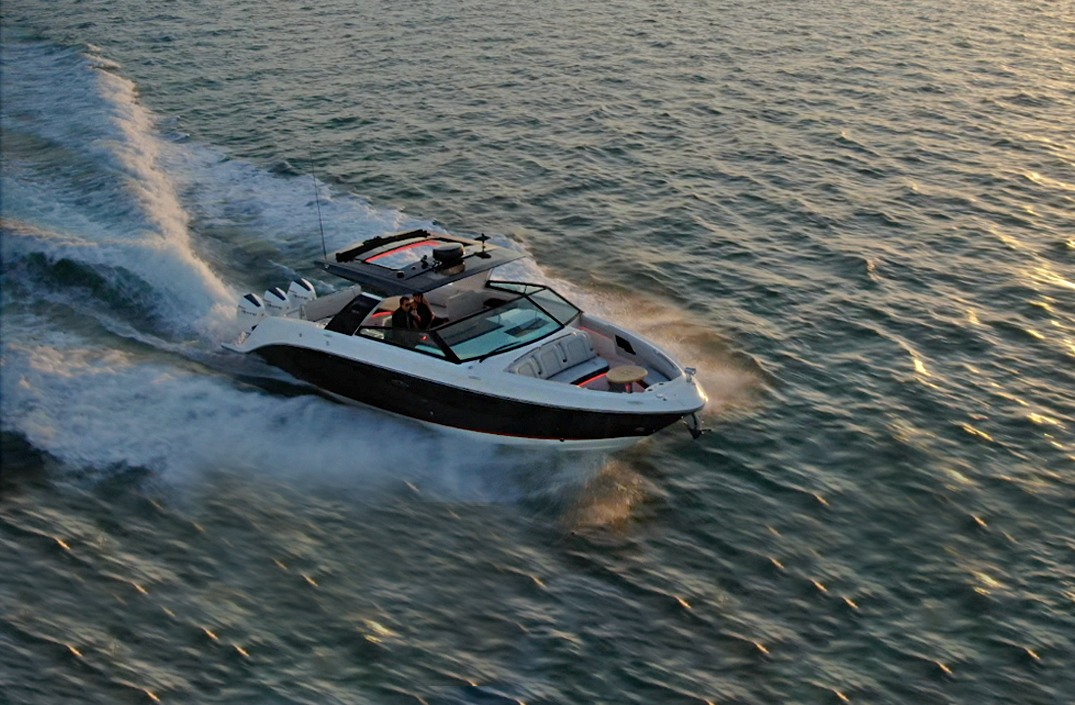 Sea Ray SLX-R 400e Smart Boat First On The Water Walk-through