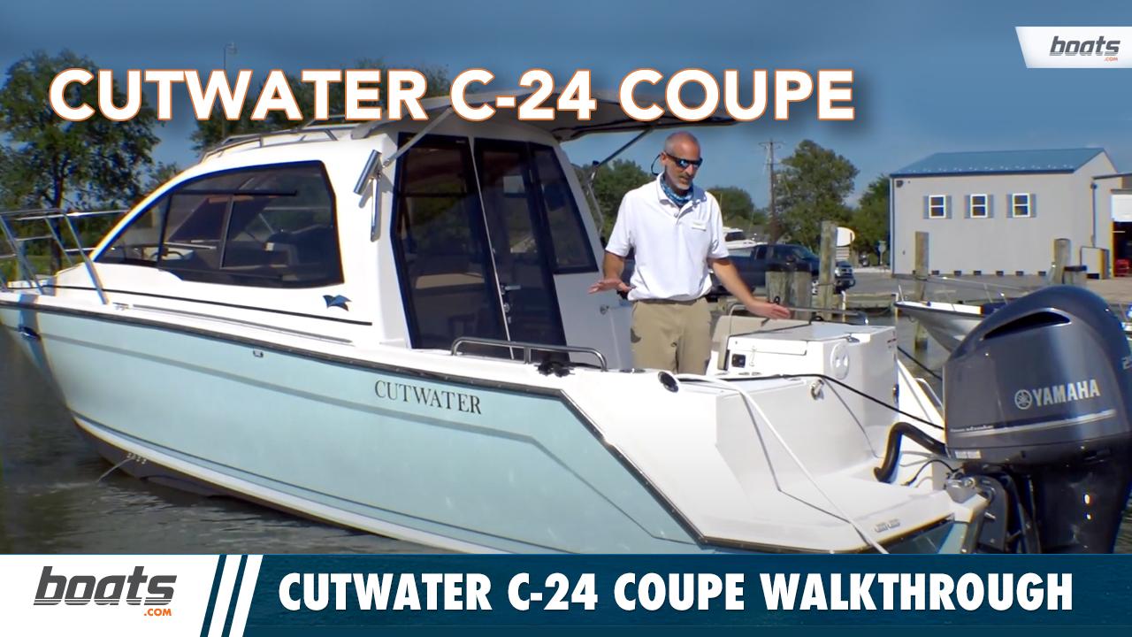 Cutwater C-24 Coupe Pocket Yacht Walkthrough thumbnail