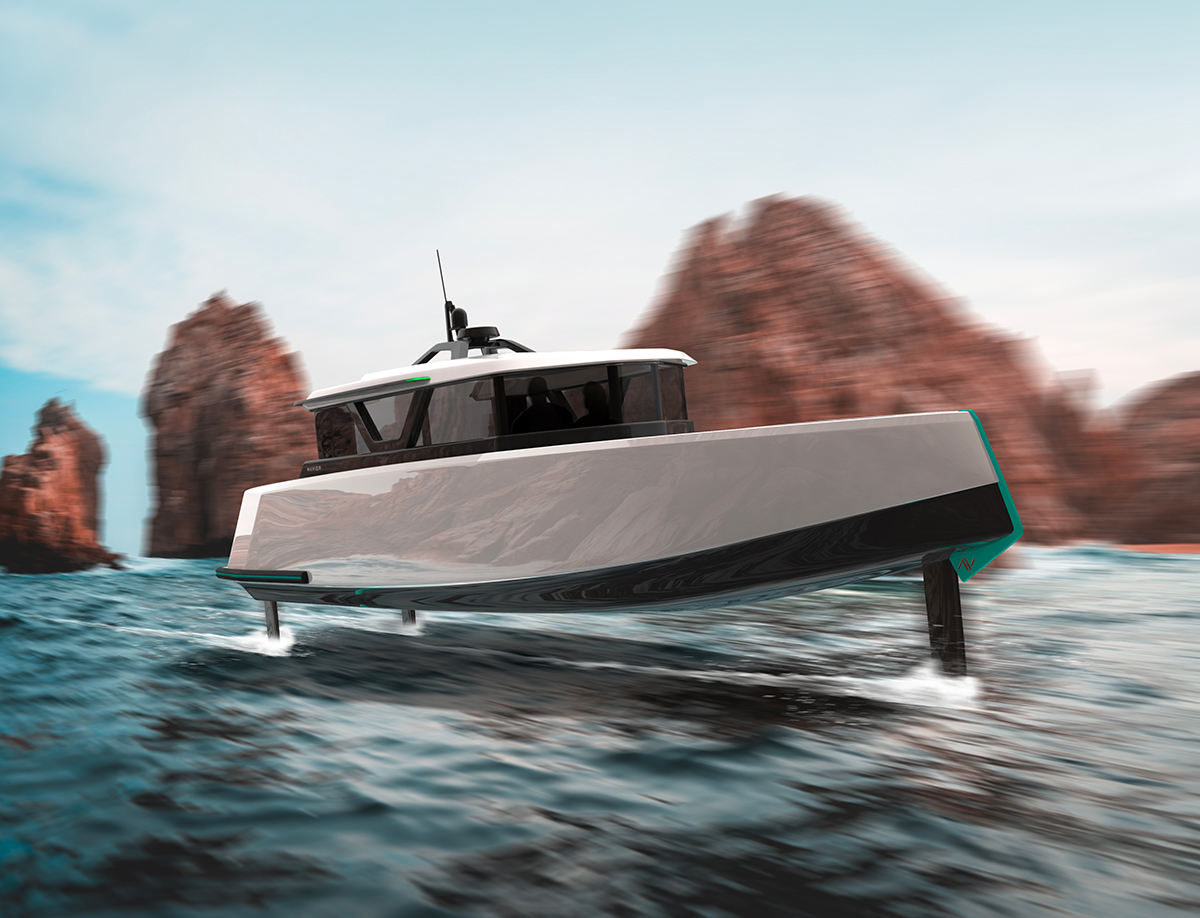 Navier To Launch A Smart Electric Boat (that can fly)! thumbnail