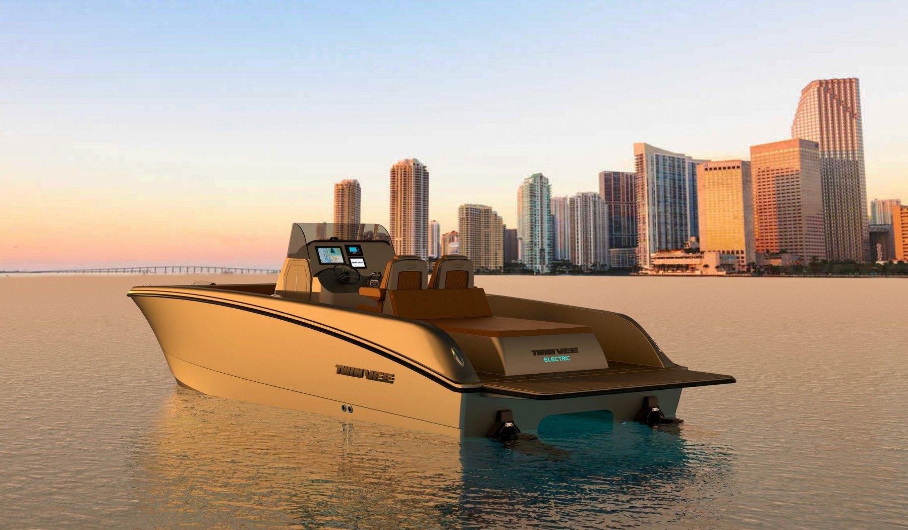 Twin Vee Goes Electric: Sneak Peak Of New Electric-Powered Catamaran Boat thumbnail