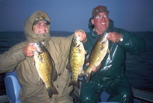 Lake Erie anglers near Buffalo have good reason to smile catching smallmouth bass such as this.
