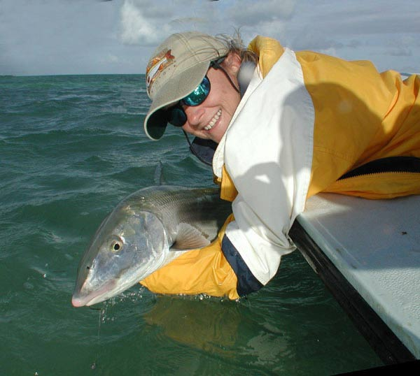 This 13-pound Islamorada bonefish picked up a shrimp laying on the bottom. Photo by Andy Newman/Florida Keys TDC.