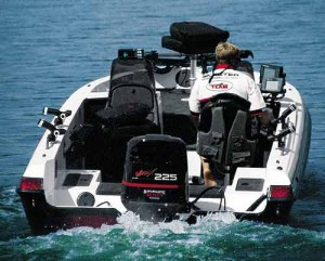 Although the boat is rated for 250 hp, the 225 Yamaha provided plenty of performance.
