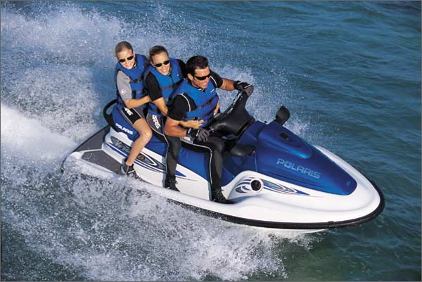 With a 135-hp, the Polaris Virage TXi has plenty of power and ample size to handle two or three riders.