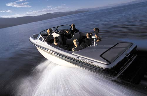 Passenger space is maximized in the Ski Centurion Elite V-drive (model shown without the optional Air Warrior package).