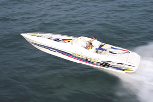 A top-flight performer, the 33 Scarab AVS won Powerboat magazine's 1998 Offshore Boat of the Year award.