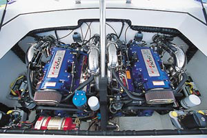 The 340 Vyper tapped twin Mercury Racing HP500EFI engines for power.