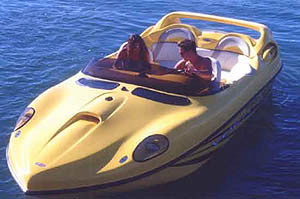 The 22' Vortex features futuristic styling.