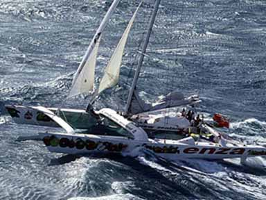 ENZA finishing in a 50-knot gale April 1, 1994
