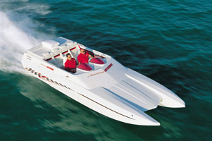 The American Offshore 2600 NSX delivers a solid and sure ride at more than 100 mph.