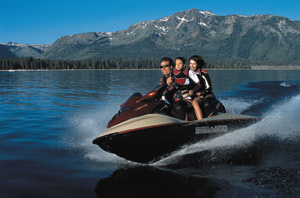 New for 2002, the GTX 4-TEC from Sea-Doo is an outstanding four-stroke personal watercraft.
