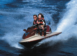 The GTX 4-TEC is Sea-Doo's first four-stroke personal watercraft.