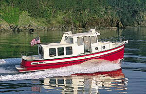 The introduction of the Nordic Tug 32, also designed by Lynn Senour, was again built on the classic tugboat profile.