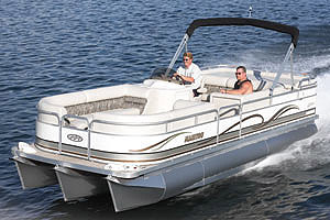 The 24 Legacy's spacious layout gives the entire family enough room to use the boat for a wide range of activities.