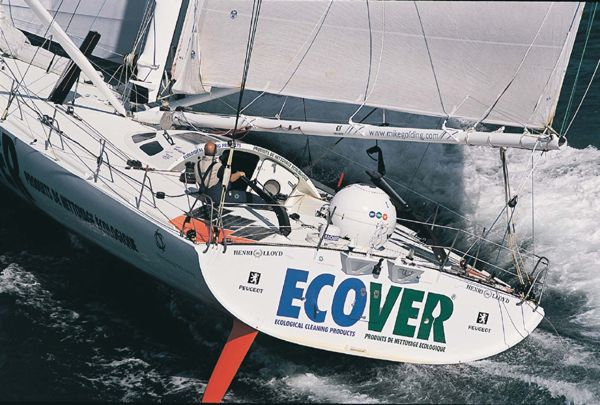 Mike Golding on the Open 60 ECOVER in last fall's Transat Jacques Vabre