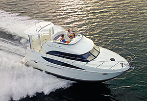 A completely new aft-cabin model for the company, the Meridian 368 fills a niche between the 341 and 381 offerings, both of which are sedan bridge configurations.