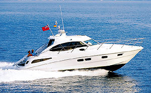 The C39 Coupe' is a very attractive sport cruiser, richly endowed with European styling.