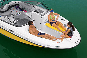 In terms of seating you'll find that the SX210 is similar to what you'd see on a specialty watersports boat.