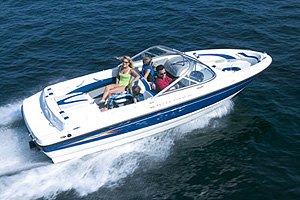 On the water, the 195 is built to please with ample storage and noteworthy performance.