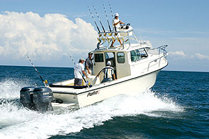 The 2820 is a production boat, but she can be outfitted to accommodate just about any fishing tastes or needs.