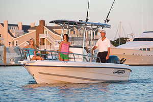 Instead of the traditional fiberglass deck and hull clamshell that's bonded, bolted and screwed together, Triumph utilizes rotomolded technology to create its Roplene hulls, including that of the 195 Center Console.