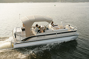 Premier's 235 Escapade can be had with two or three tubes and with an outboard or stern drive.