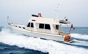 Grand Banks' new Heritage 44 is available in two models, the Classic (CL) and the Europa (EU).