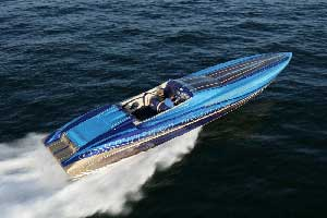 The 46 Limited ran 124.5 mph on GPS with the engines turning 6,100 rpm. (Photo by Tom Newby, Copyright 2007)