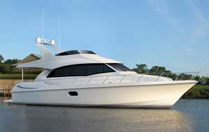 Powered by its standard engines, the 56 Motor Yacht is expected to achieve a cruising speed of 18 knots and top end of 21 knots.