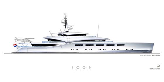 The ICON 95 has a long, sleek profile