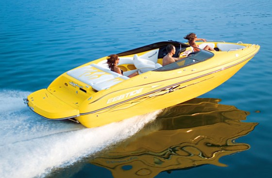 The Ebbtide 2240 Extreme Bowrider has a clear performance look.
